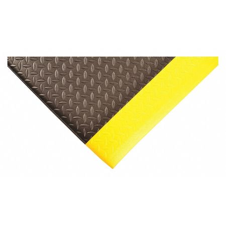 "2' x 3' 1/2"" Diamond Deluxe Soft foot Black/Yellow"