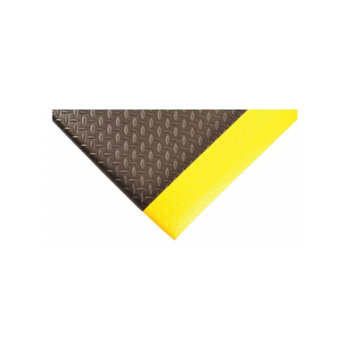 "4' x 60' 1/2"" Diamond Deluxe Soft foot Black/Yellow"
