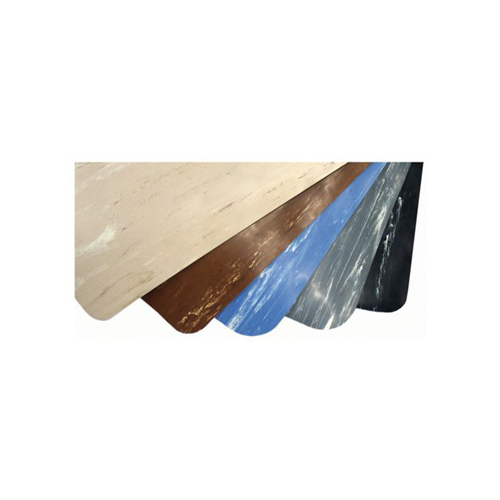 "2' x 3' Marble Foot 1/2"" Rubber Brown/Ivory"