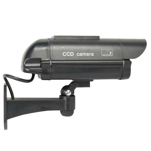 Solar Powered Dummy Camera - Black