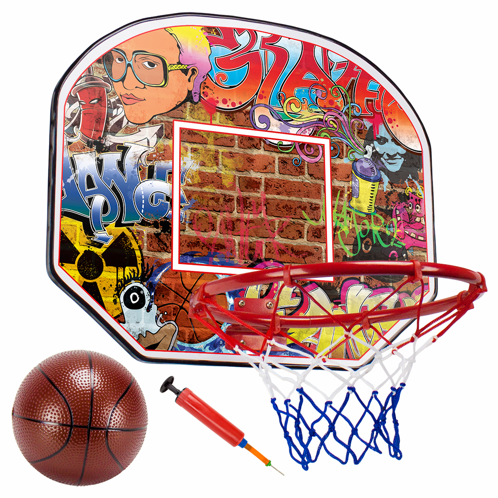 12in Urban Graffiti Mini Hoop with Ball and Pump
