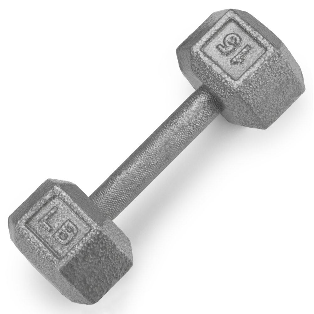 15lb Cast Iron Hex Dumbbell