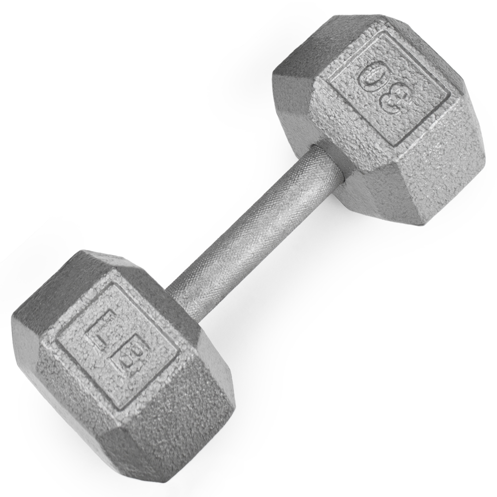 30lb Cast Iron Hex Dumbbell