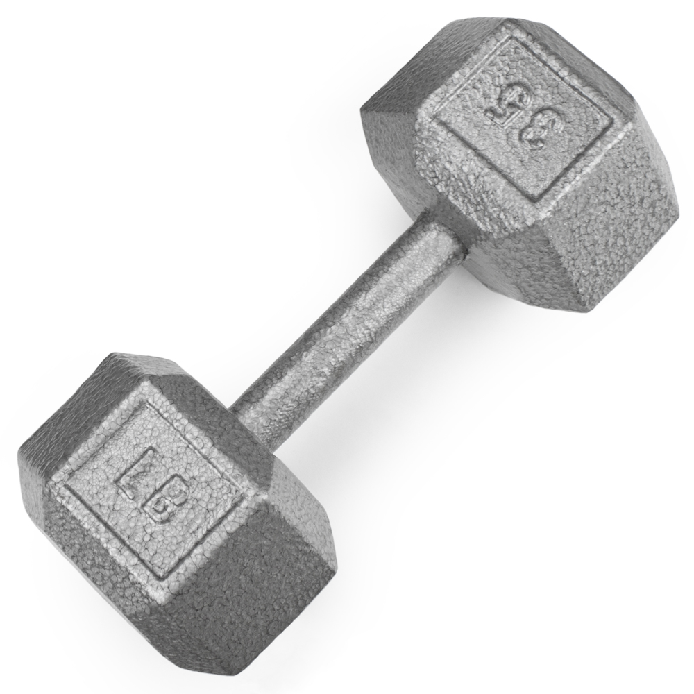 35lb Cast Iron Hex Dumbbell
