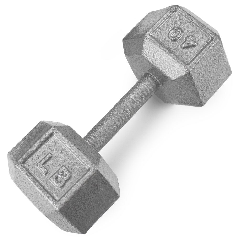 40lb Cast Iron Hex Dumbbell