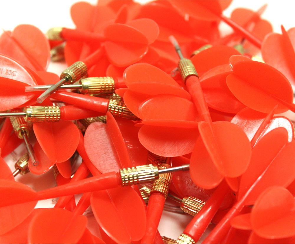 144 Pack Red Metal Tip Brass Balloon Darts