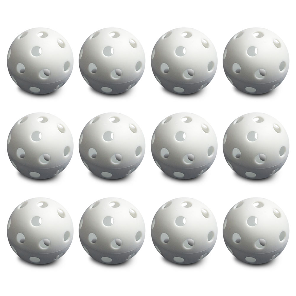 12 White Poly Baseballs (Regulation Size)