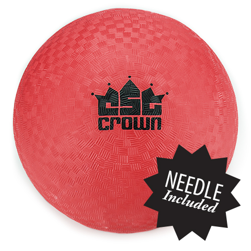 "Red Dodge Ball 8.5"" with Needle"