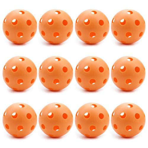 12 Orange Poly Baseballs (Regulation Size)