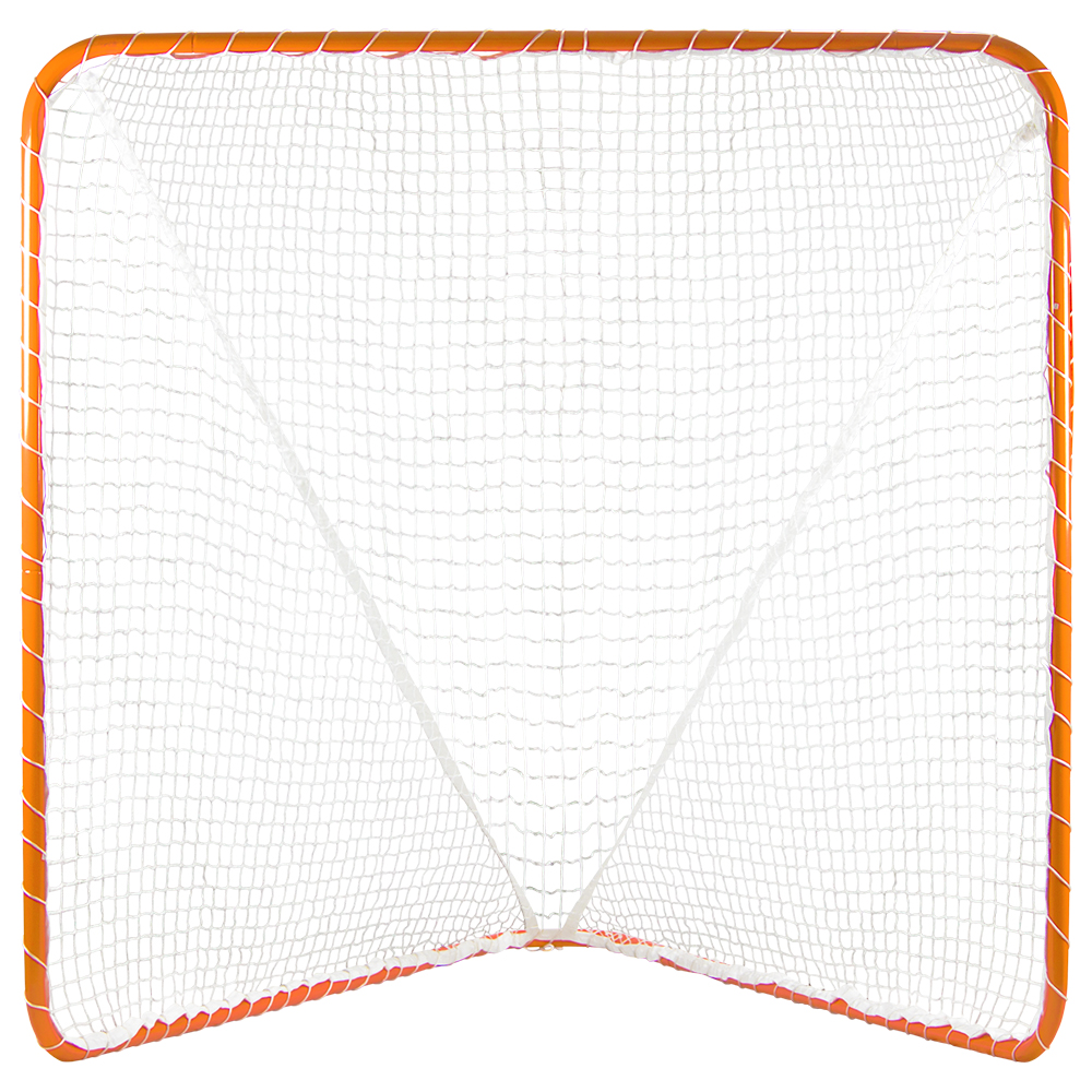 6' x 6' Official Size Orange Lacrosse Goal