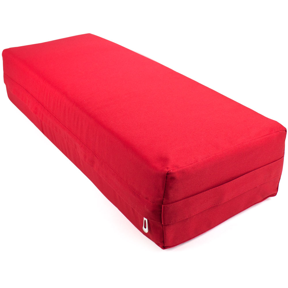 Large 26-inch Red Yoga Bolster and Meditation Pillow