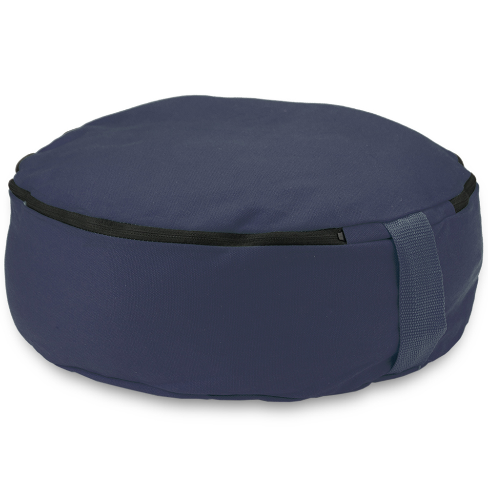 "Blue 15"" Round Zafu Meditation Cushion"