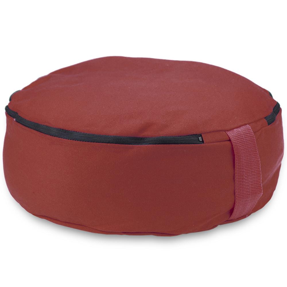 "Red 15"" Round Zafu Meditation Cushion"