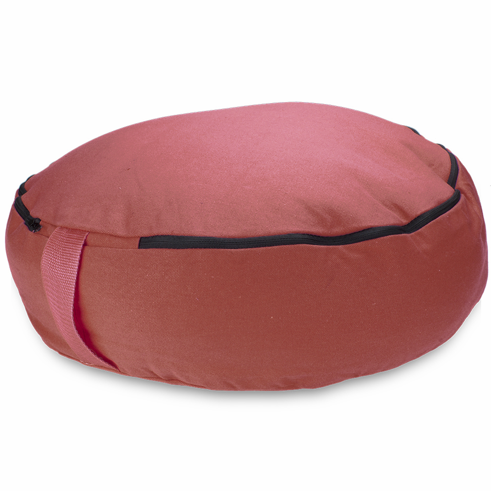"Red 18"" Round Zafu Meditation Cushion"