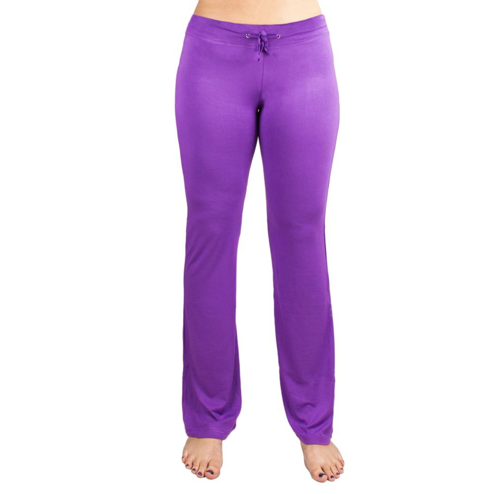 Medium Purple Relaxed Fit Yoga Pants