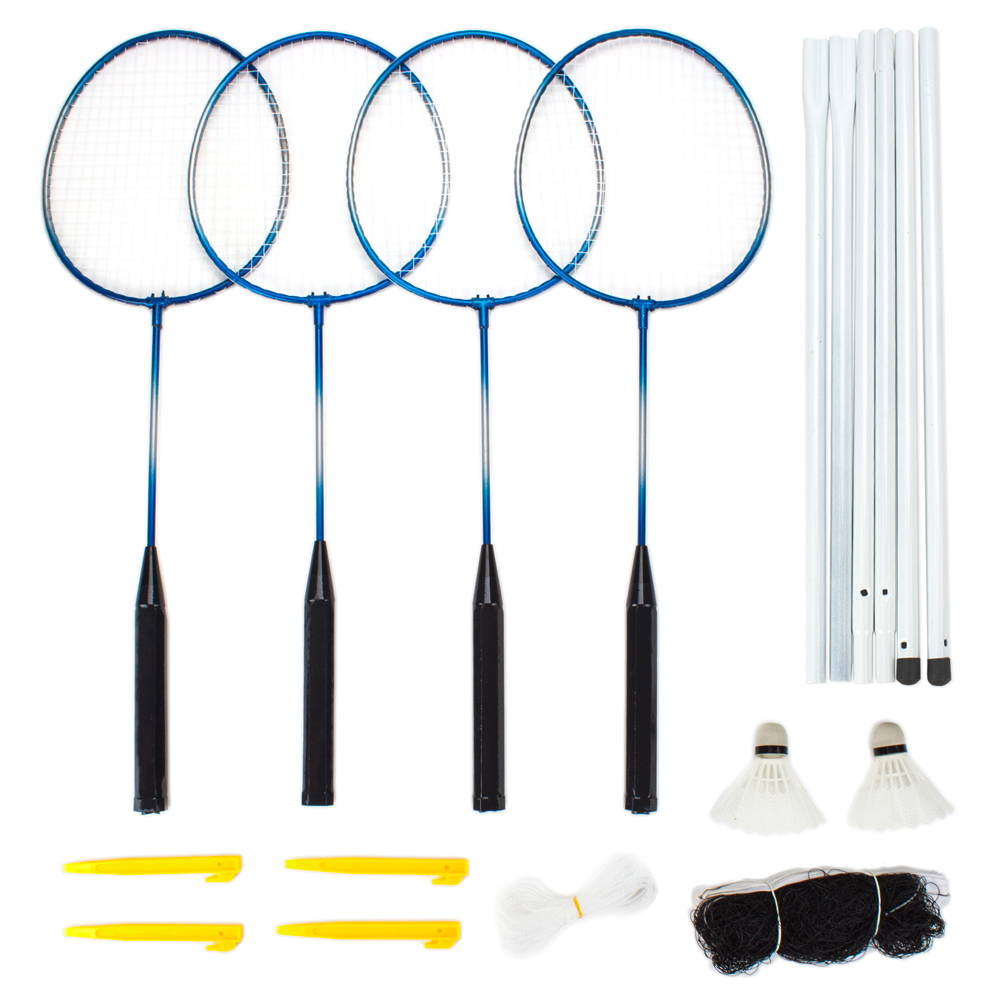 Complete 4-Player Badminton Set