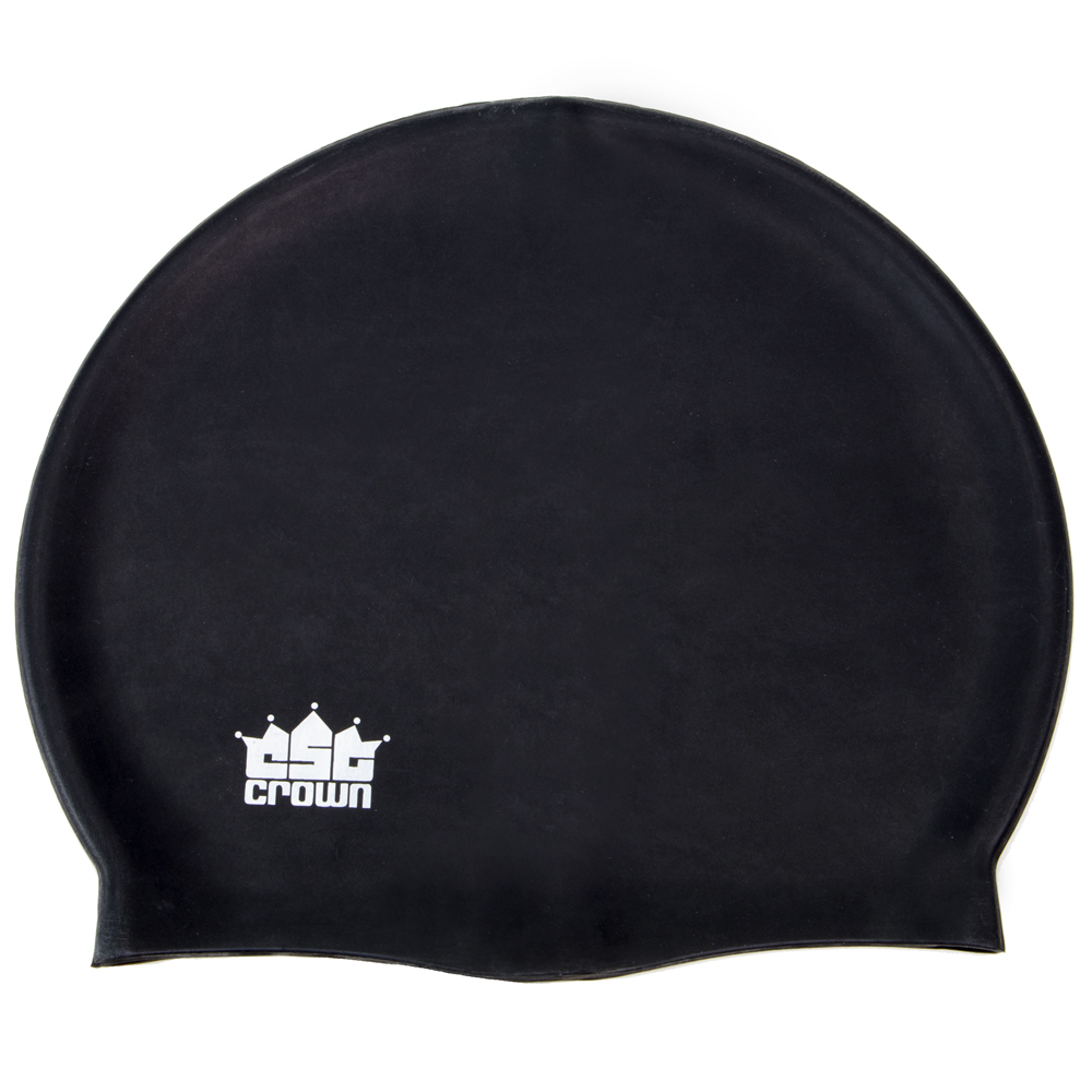 Silicone Swim Cap, Black