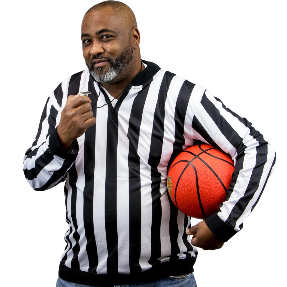 Men's Long Sleeve Referee Jersey, medium