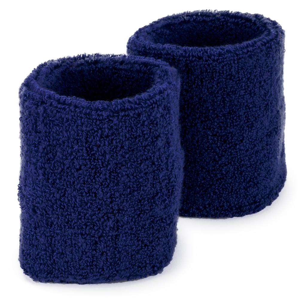 Wrist Sweatbands 2-pack, Blue
