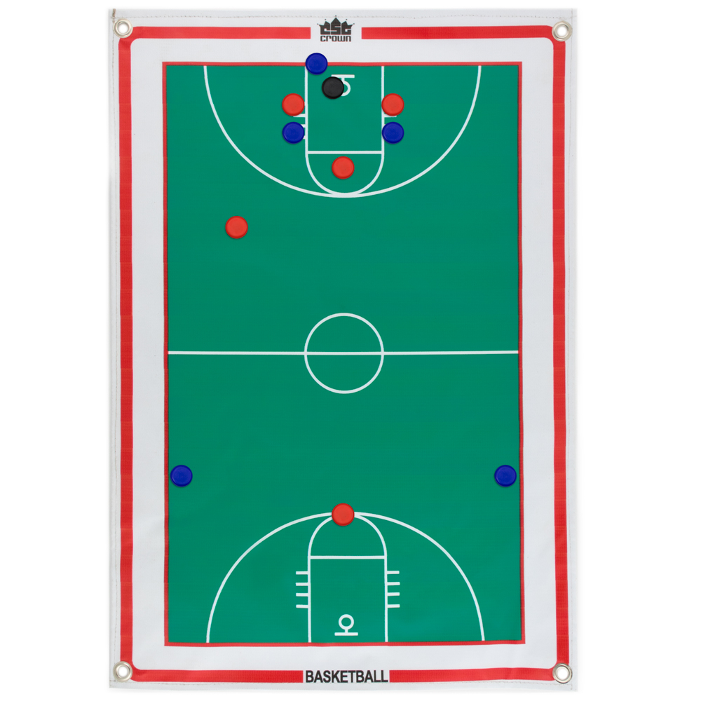 Magnetic Roll-up Clipboard, Basketball