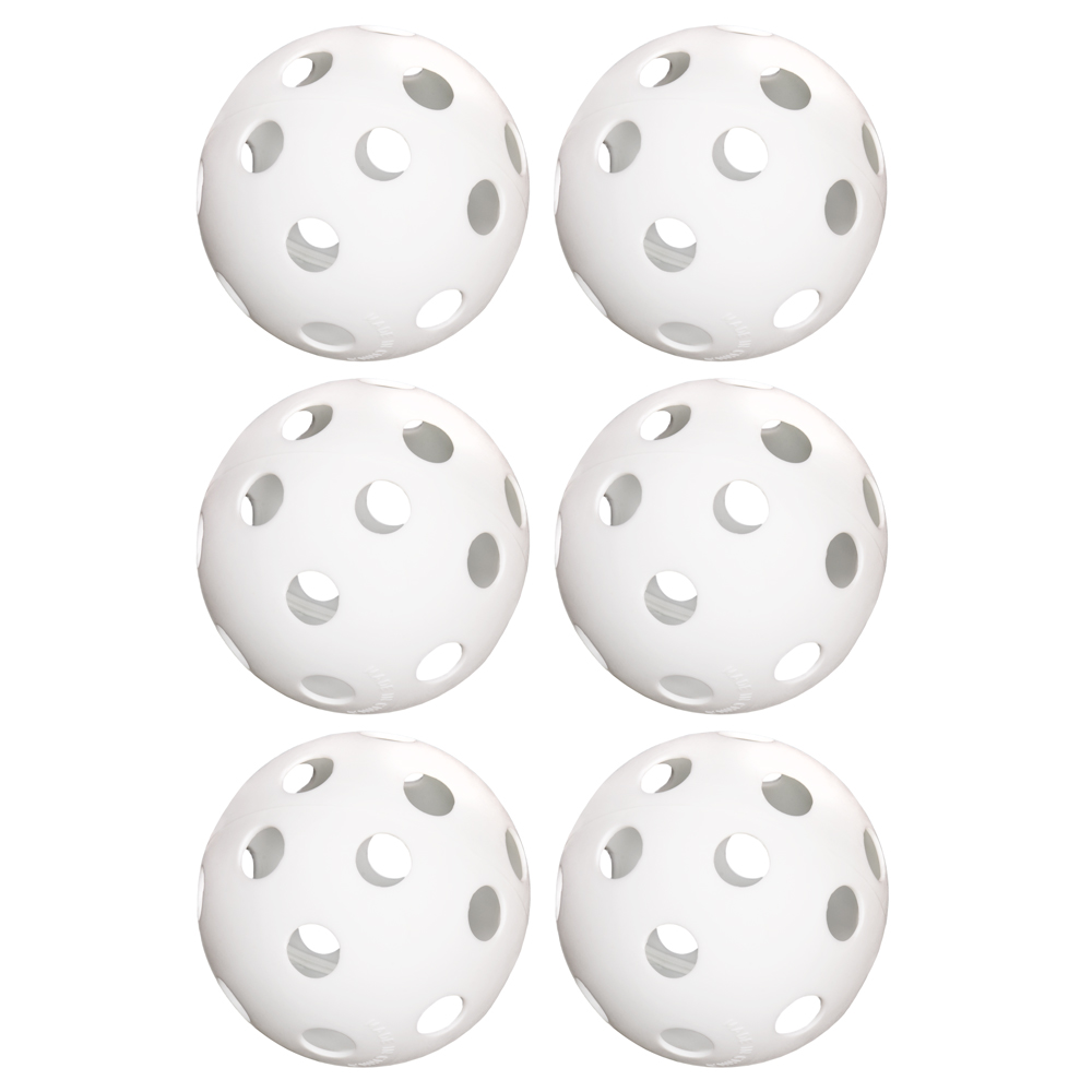 "6-Pack of 12"" Practice Softballs, White"