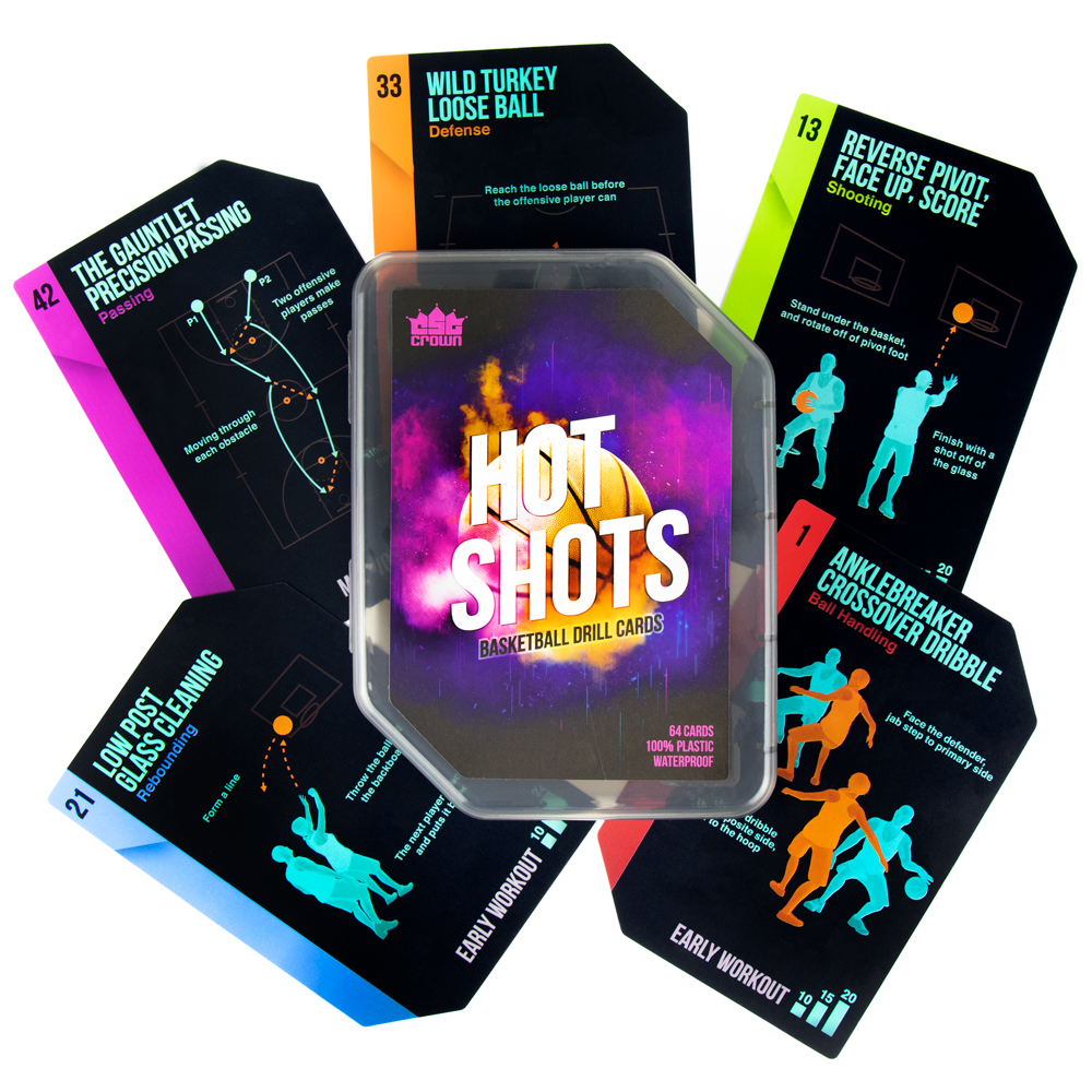 Hot Shots Basketball Drill Cards