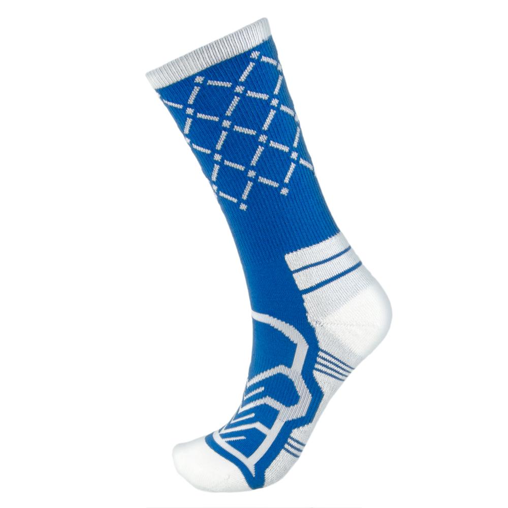 Medium Basketball Compression Socks, Blue/White