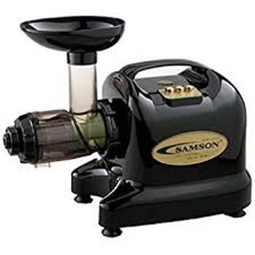 Samson 6-1 Single Auger Wheatgrass & Multi Purpose Juicer - Black