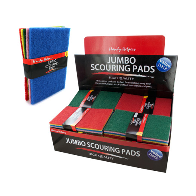 5 Pack jumbo scouring pads 25 Pack