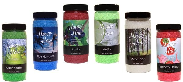 Fragrance, Insparation Happy Hour, Crystals, Case of 6, Assorted 19oz Jars