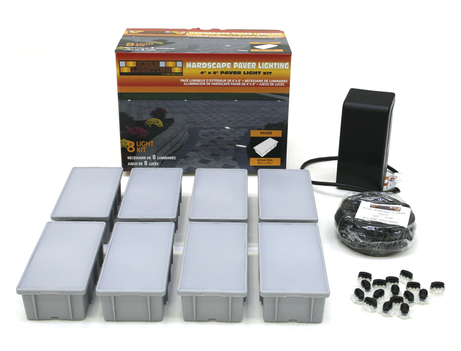 4 x 8 Paver Light Kit - Tan, 8-Pack