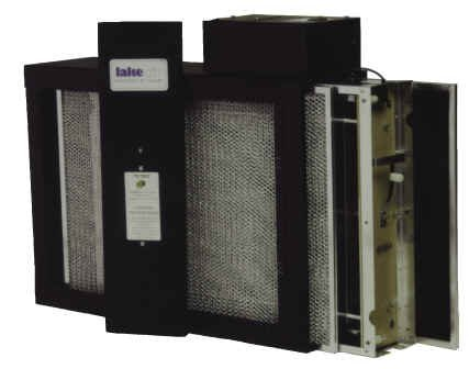 Furnace Mounted Electronic Air Cleaner - Single Cell Assembly - Black Cabinet