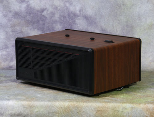 Excel Electronic Air Cleaner - 15' x 15' - 120v,AC/60Hz/.85 amps - Wood Grain (Walnut) Cabinet Fin