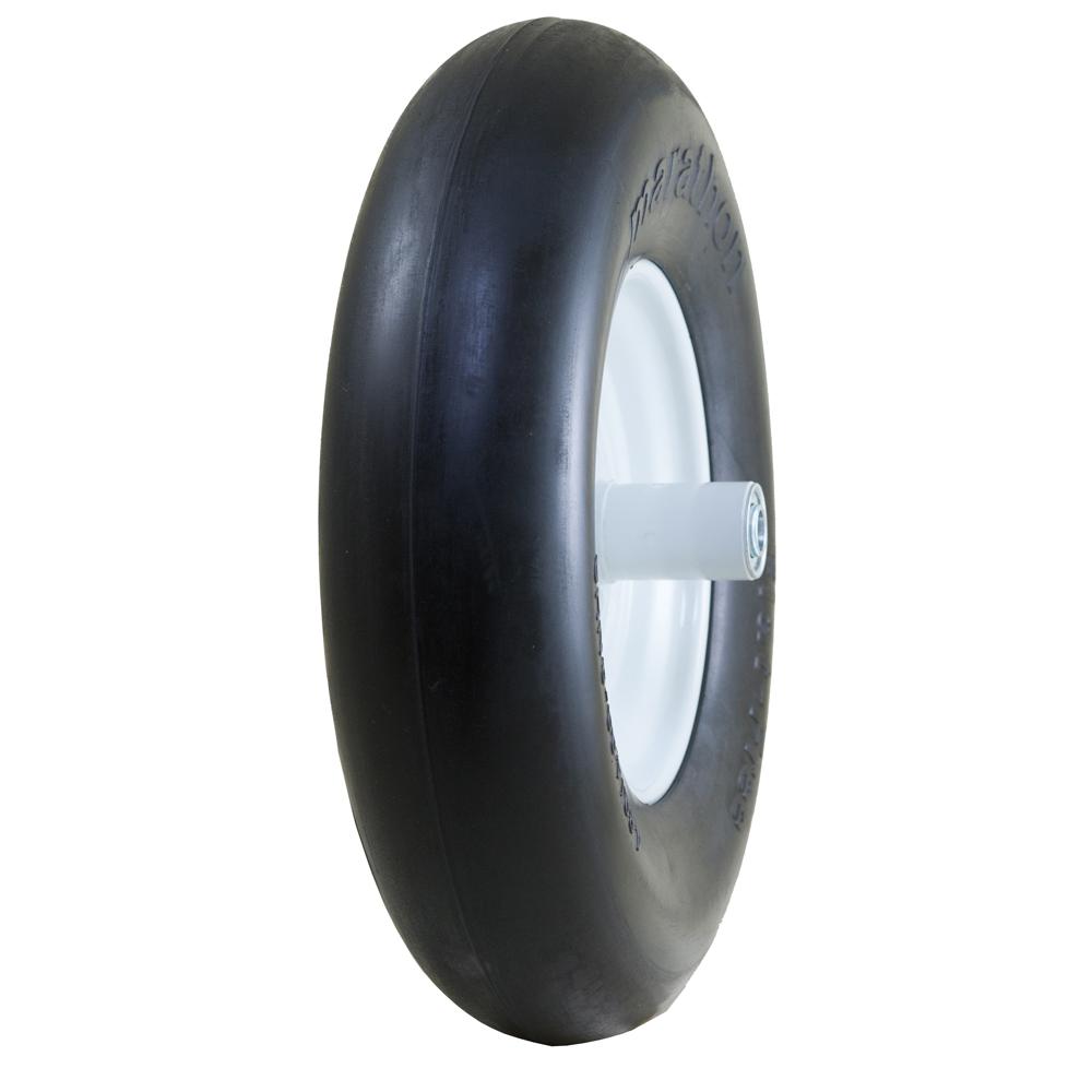 "Flat Free Wheelbarrow Tire with Smooth Tread, 4.80/4.00-8"""