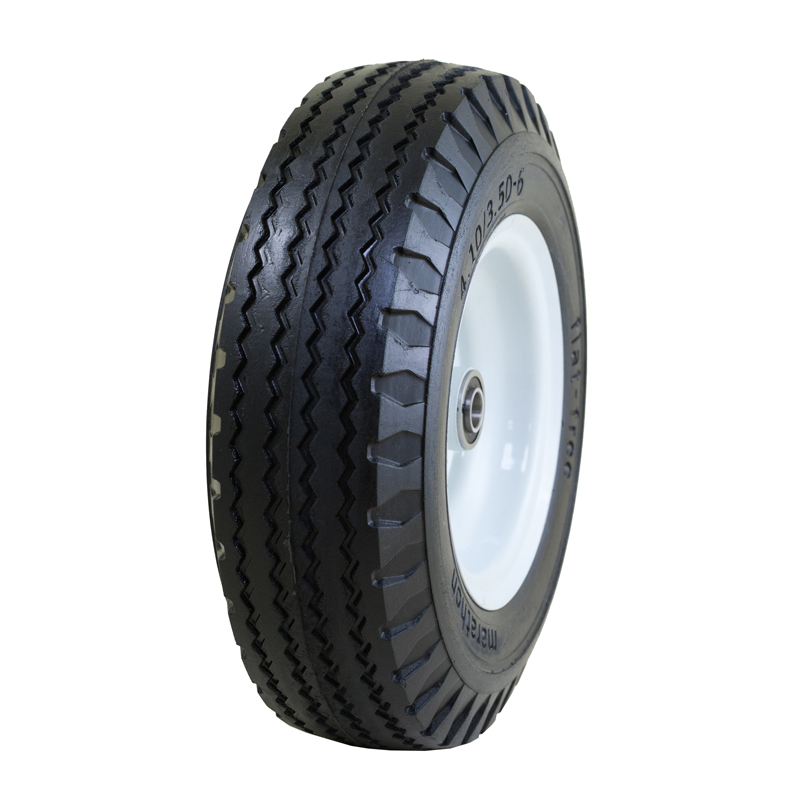 Flat Free Hand Truck Tire with Sawtooth Tread, 4.10/3.50-6""