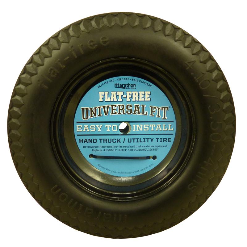 Flat Free Hand Truck Tire, Universal Fit