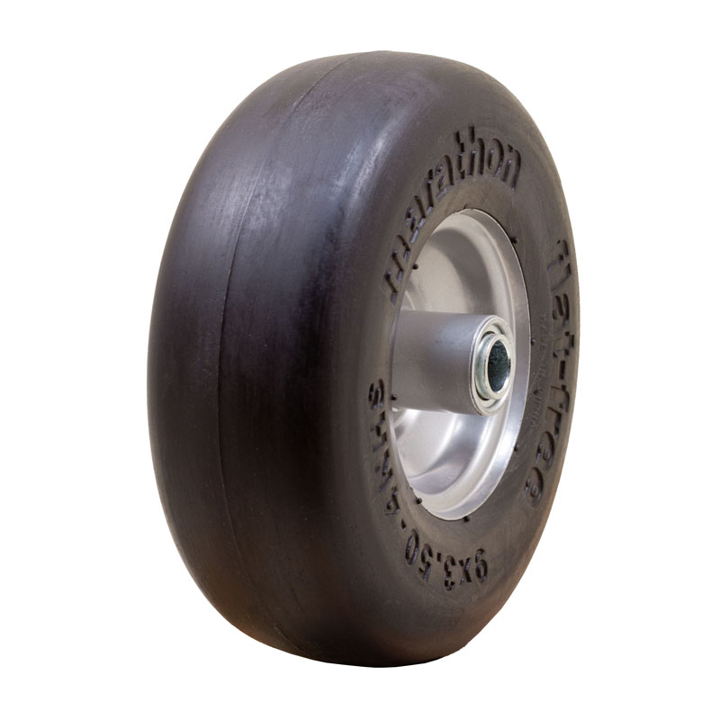 Flat Free Power Equipment Tire with Smooth Tread, 9x3.50-4""