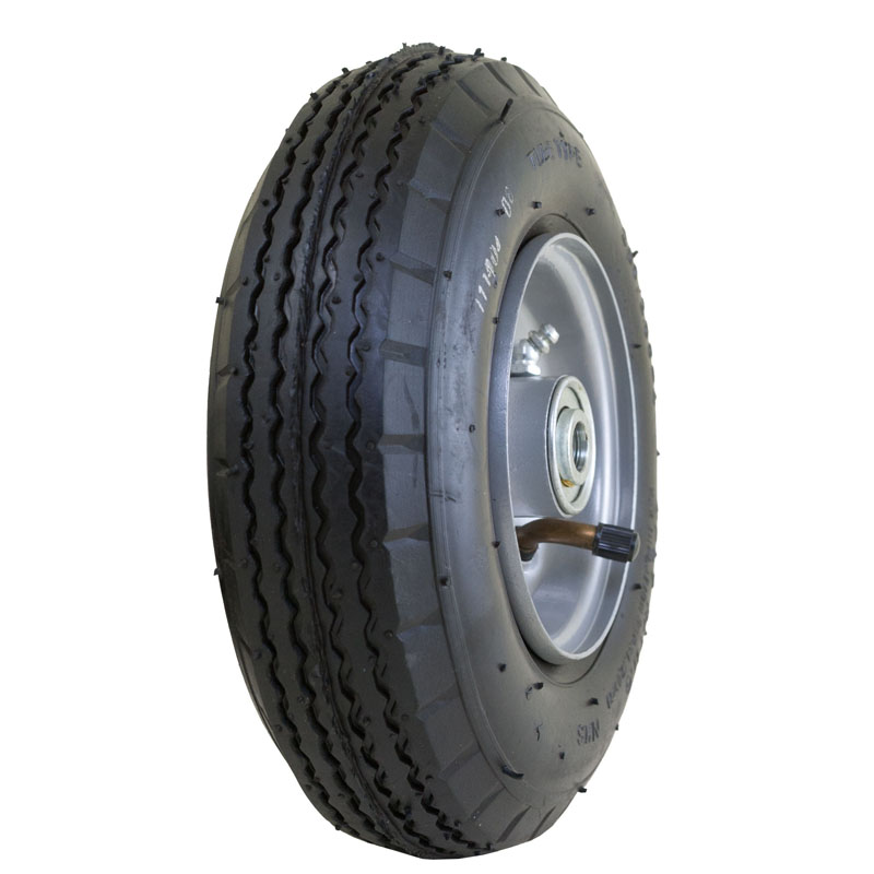 """Air Filled Tire with Jag Tread, 2.80/2.80-4"""""""