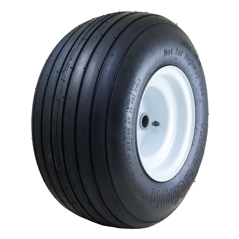 """Air Filled Power Equipment Tire with Ribbed Tread, 18x8.50-8"""""""