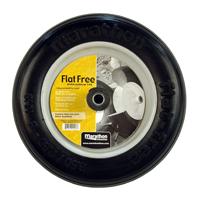 """Flat Free Wheelbarrow Tire with Ribbed Tread, 3.50/2.50-8"""""""