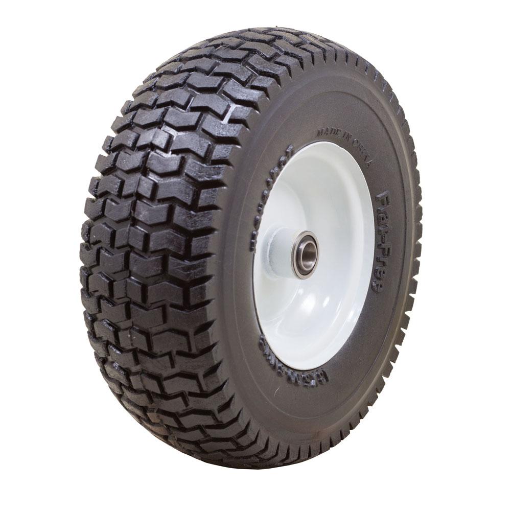 "Flat Free Power Equipment Tire with Turf Tread, 13x5.00-6"""