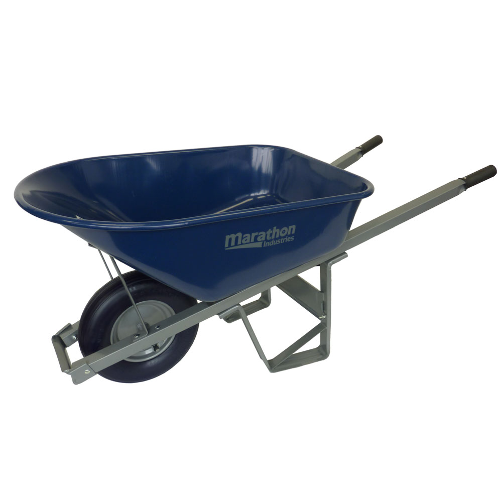 Wheelbarrow with Ribbed Flat Free Tire, Ultimate Contractor
