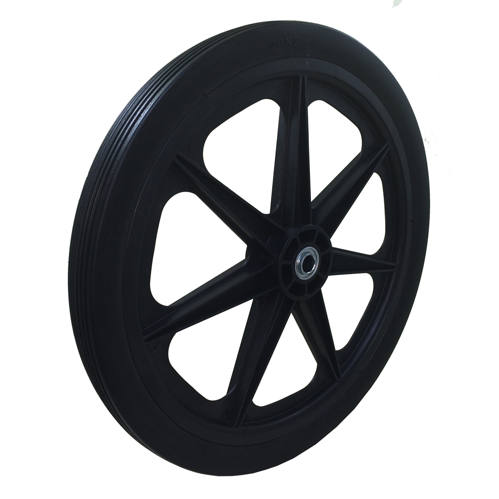 Flat Free Cart Tire for Lawn, Garden, Marina, 20x2.0""
