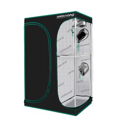 2-in-1 90x60x140cm Multi-Chamber Reflective Grow Tent for Indoor Hydroponic Growing System