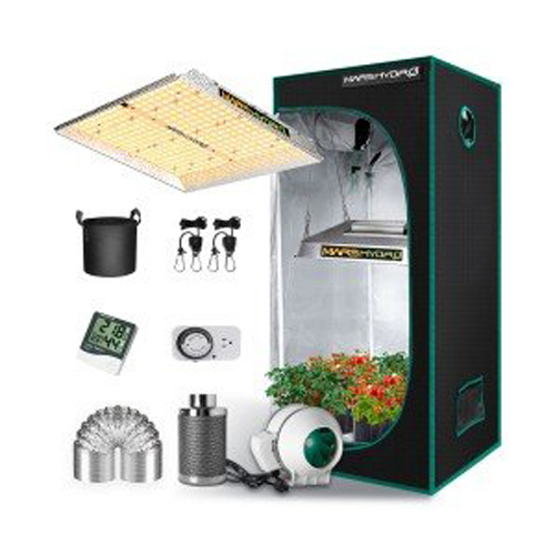 TS 1000 LED Grow Light + 2.3'x2.3' Indoor Complete Tent Kits