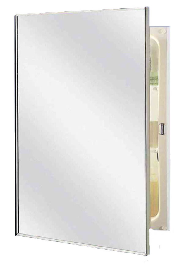 16-inch x 26-inch, recessed mount, enamel coated steel body