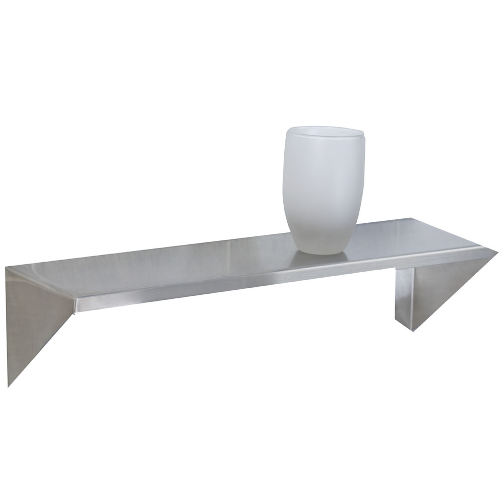 12-inch x 5-inch, Skyline Shelf, bright finish