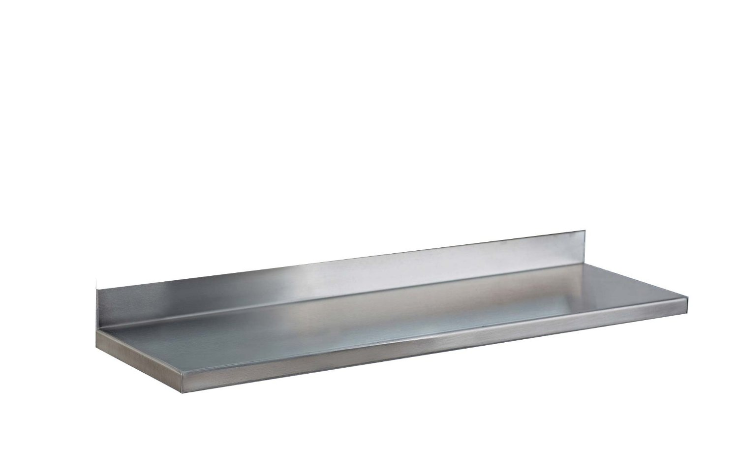 36-inch x 6-inch, Integral shelf, satin finish