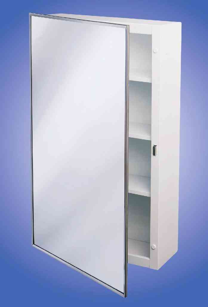 Medicine Cabinet 16-Inch X 22-Inch, Surface Mount, Enamel Coated Steel Body