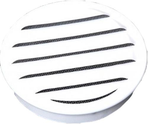 "REG Series Louver, Standard Collar, White, 2"""